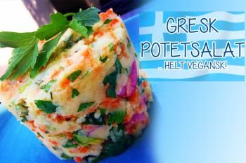 Gresk potetsalat, helt vegansk