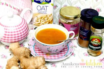 Ingefær- og gurkemeie-te