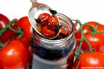 Soltørkede tomater i olje
