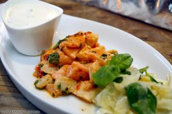 Fast i fisken: Ceviche med fennikelsalat og Crème Fraiche