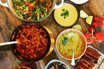 Vegansk taco med tempeh og «ostesaus»
