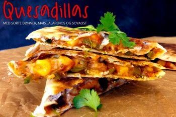 Veganske quesadillas med sorte bønner og mais
