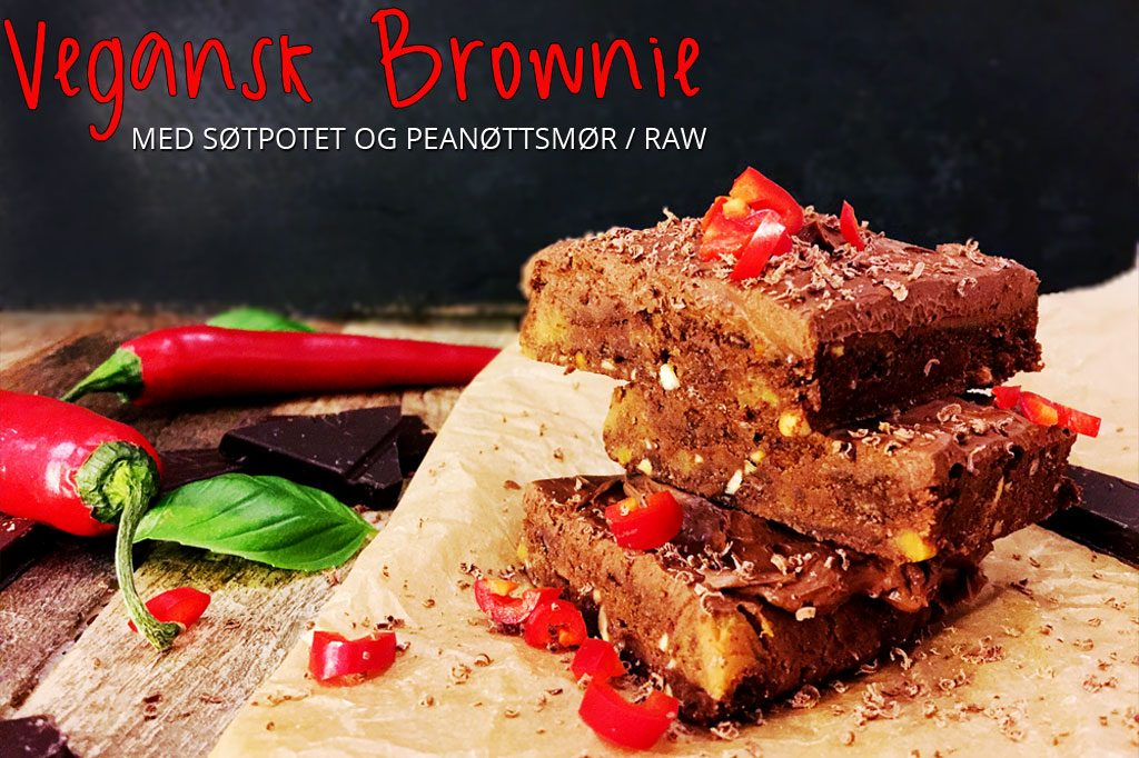 Brownie med søtpotet (no bake, yay)
