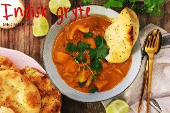 Indisk gryte med søtpotet