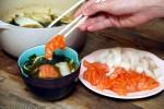 Miso- & Matchasuppe med fisk
