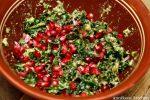 Massert grønnkål med granateple