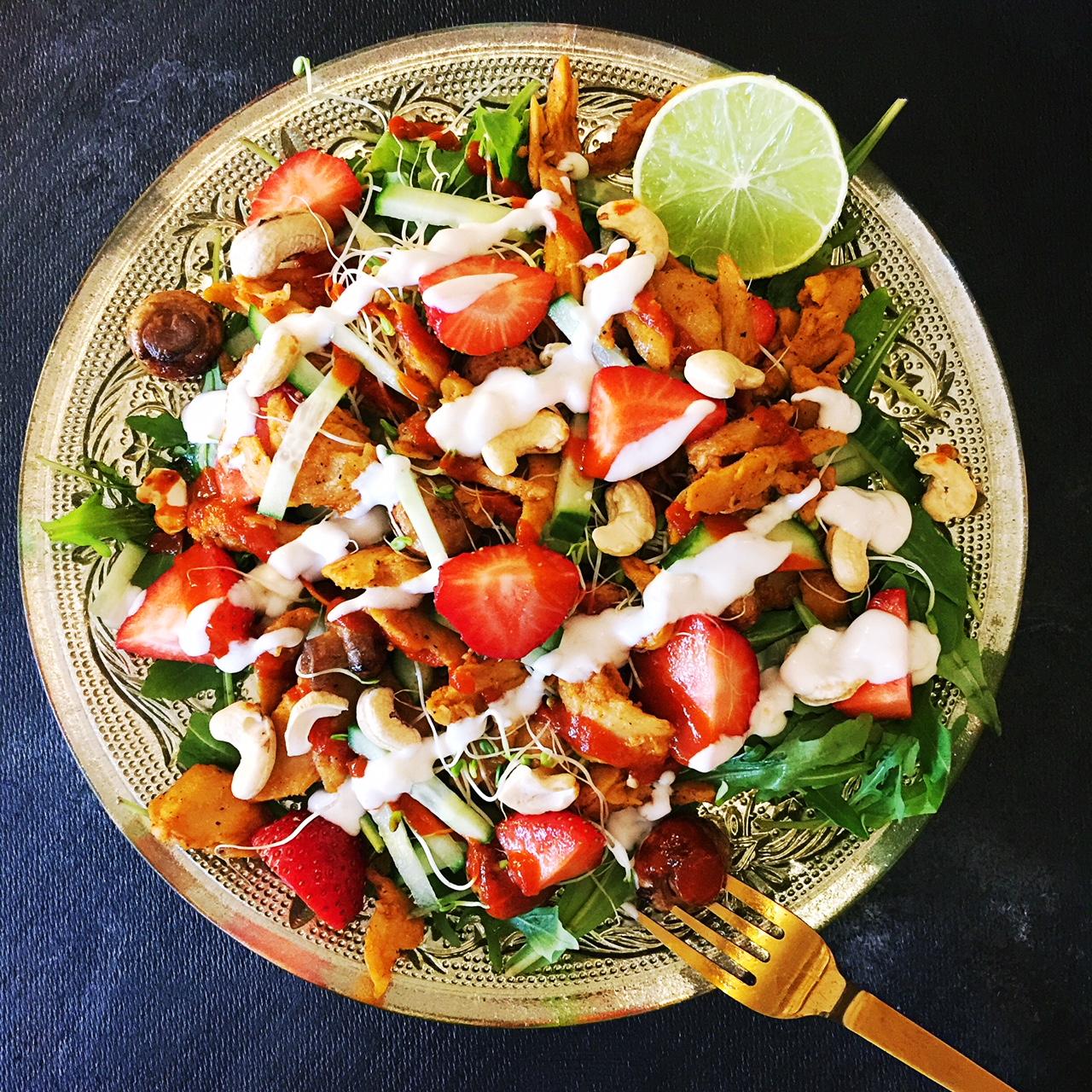 Vegansk kyllingsalat