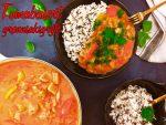Tomatbasert grønnsaksgryte med ingefær