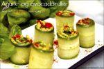 Agurk- og avocadoruller med røkt paprika